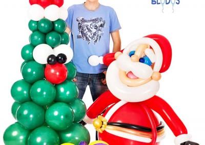 Árbol y Papá Noel de Navidad.