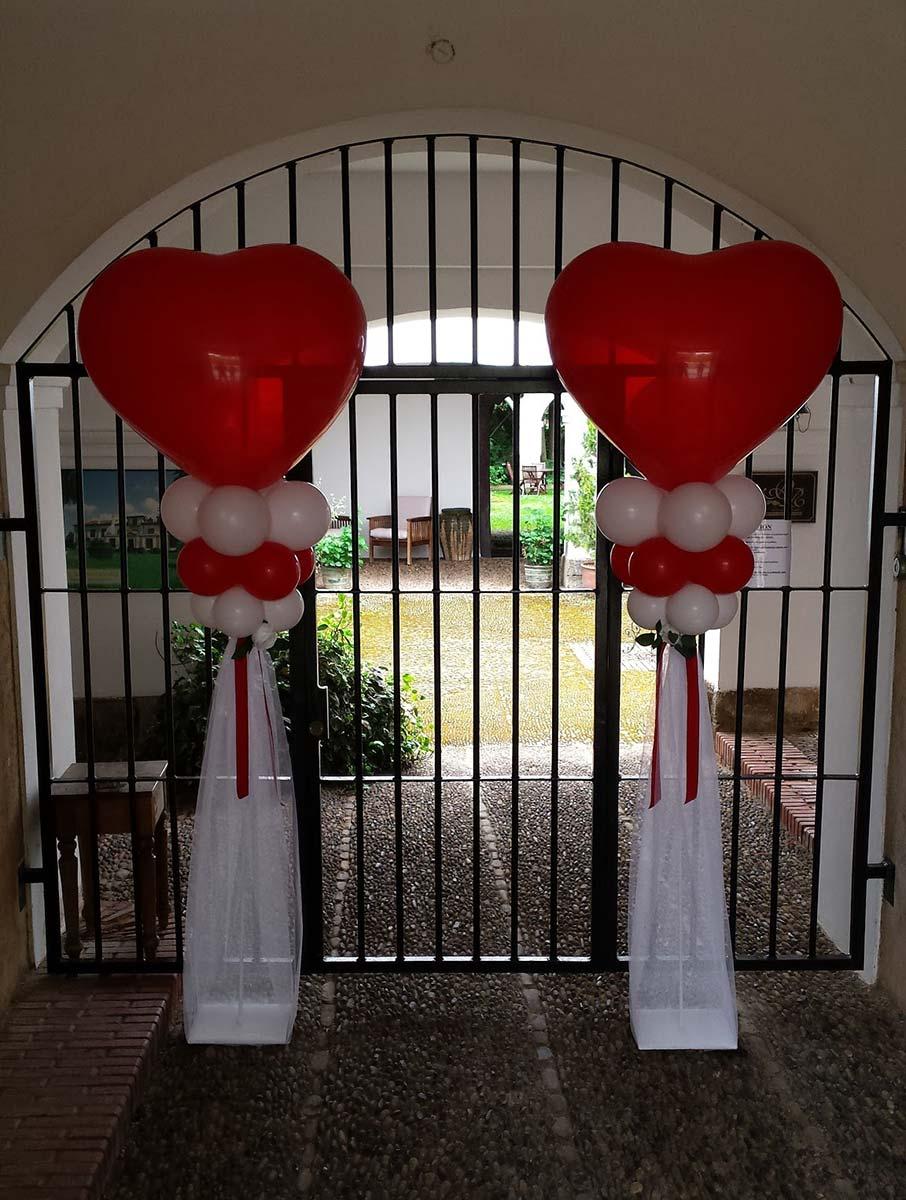 Con globos para bodas perfect globo para boda foil with - Decoracion columnas salon ...