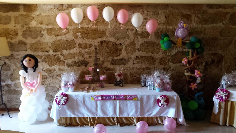M s que globos - Decoracion de mesa para comunion ...