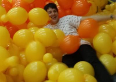 Zambullida de globos!!