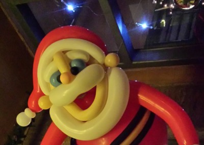 Papá Noel volador.