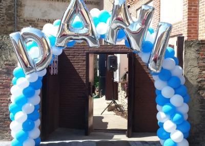 Arco para gran fiesta de cumpleaños.