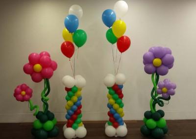 Columnas flores arcoiris.