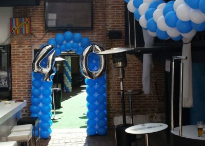 Arco de salida gran decoración de cumpleaños.