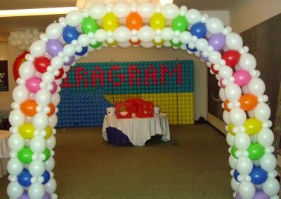 Arco LOL Arcoiris. Cumpleaños. Curso 2014