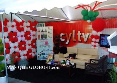 Carpa Televisión de León durante las fiestas.