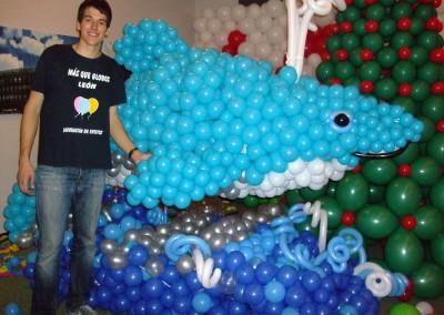 Gran escultura de tiburón. Madrid