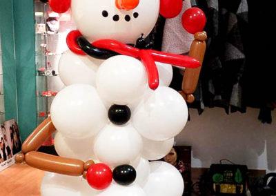 Nuestro muñeco de nieve con nuevo look