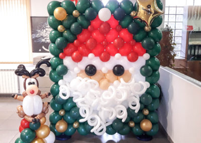 Mural de Papá Noel con Rudolf